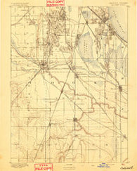 Calumet Illinois Historical topographic map, 1:62500 scale, 15 X 15 Minute, Year 1893