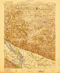 Campbell Hill Illinois Historical topographic map, 1:62500 scale, 15 X 15 Minute, Year 1918