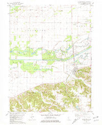 Chandlerville Illinois Historical topographic map, 1:24000 scale, 7.5 X 7.5 Minute, Year 1981