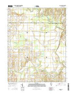 Chauncey Illinois Current topographic map, 1:24000 scale, 7.5 X 7.5 Minute, Year 2015 from Illinois Map Store
