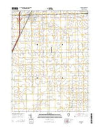 Chenoa Illinois Current topographic map, 1:24000 scale, 7.5 X 7.5 Minute, Year 2015 from Illinois Map Store