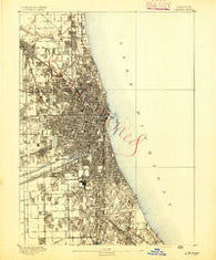 Chicago Illinois Historical topographic map, 1:62500 scale, 15 X 15 Minute, Year 1891