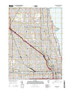 Chicago Loop Illinois Current topographic map, 1:24000 scale, 7.5 X 7.5 Minute, Year 2015 from Illinois Map Store