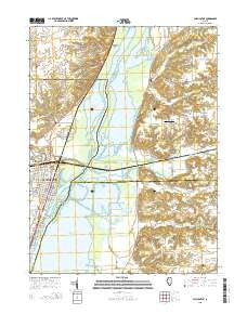 Chillicothe Illinois Current topographic map, 1:24000 scale, 7.5 X 7.5 Minute, Year 2015