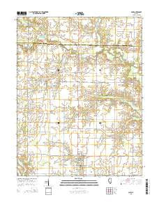 Cisne Illinois Current topographic map, 1:24000 scale, 7.5 X 7.5 Minute, Year 2015