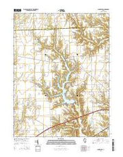 Clarksville Illinois Current topographic map, 1:24000 scale, 7.5 X 7.5 Minute, Year 2015 from Illinois Maps Store