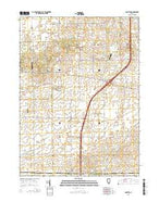 Compton Illinois Current topographic map, 1:24000 scale, 7.5 X 7.5 Minute, Year 2015 from Illinois Map Store