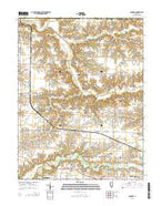 Concord Illinois Current topographic map, 1:24000 scale, 7.5 X 7.5 Minute, Year 2015 from Illinois Map Store