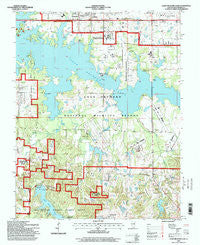 Crab Orchard Lake Illinois Historical topographic map, 1:24000 scale, 7.5 X 7.5 Minute, Year 1996
