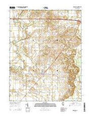Crossville Illinois Current topographic map, 1:24000 scale, 7.5 X 7.5 Minute, Year 2015 from Illinois Maps Store