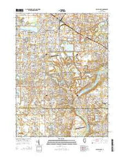 Crystal Lake Illinois Current topographic map, 1:24000 scale, 7.5 X 7.5 Minute, Year 2015 from Illinois Maps Store