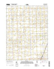Cullom Illinois Current topographic map, 1:24000 scale, 7.5 X 7.5 Minute, Year 2015 from Illinois Maps Store
