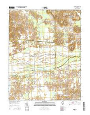 Cypress Illinois Current topographic map, 1:24000 scale, 7.5 X 7.5 Minute, Year 2015 from Illinois Maps Store