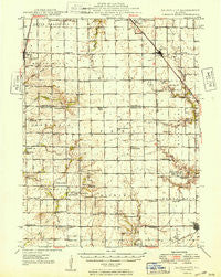 Dalton City Illinois Historical topographic map, 1:62500 scale, 15 X 15 Minute, Year 1949