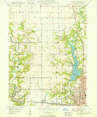 Danville NW Illinois Historical topographic map, 1:24000 scale, 7.5 X 7.5 Minute, Year 1950