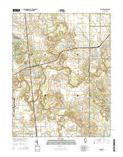 De Soto Illinois Current topographic map, 1:24000 scale, 7.5 X 7.5 Minute, Year 2015 from Illinois Maps Store