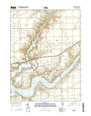 De Witt Illinois Current topographic map, 1:24000 scale, 7.5 X 7.5 Minute, Year 2015 from Illinois Maps Store