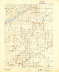 Des Plaines Illinois Historical topographic map, 1:62500 scale, 15 X 15 Minute, Year 1890