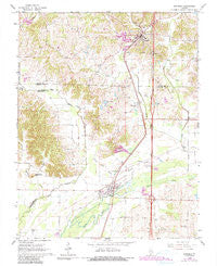 Dongola Illinois Historical topographic map, 1:24000 scale, 7.5 X 7.5 Minute, Year 1966