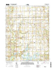 Dundas Illinois Current topographic map, 1:24000 scale, 7.5 X 7.5 Minute, Year 2015 from Illinois Maps Store