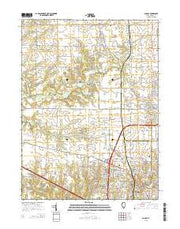 Dunlap Illinois Current topographic map, 1:24000 scale, 7.5 X 7.5 Minute, Year 2015 from Illinois Maps Store