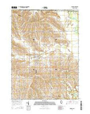 Durand Illinois Current topographic map, 1:24000 scale, 7.5 X 7.5 Minute, Year 2015 from Illinois Maps Store