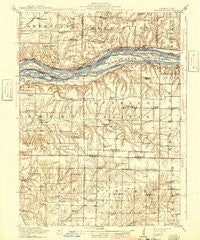 Edgington Illinois Historical topographic map, 1:62500 scale, 15 X 15 Minute, Year 1916