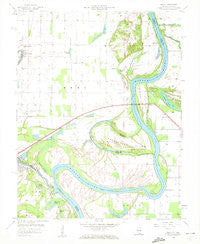 Emma Illinois Historical topographic map, 1:24000 scale, 7.5 X 7.5 Minute, Year 1958