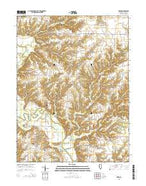 Erwin Illinois Current topographic map, 1:24000 scale, 7.5 X 7.5 Minute, Year 2015 from Illinois Map Store
