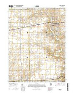 Eureka Illinois Current topographic map, 1:24000 scale, 7.5 X 7.5 Minute, Year 2015 from Illinois Map Store