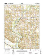 Evansville Illinois Current topographic map, 1:24000 scale, 7.5 X 7.5 Minute, Year 2015 from Illinois Map Store