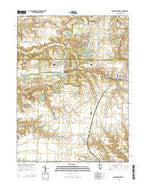 Farmington West Illinois Current topographic map, 1:24000 scale, 7.5 X 7.5 Minute, Year 2015 from Illinois Map Store