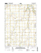 Flanagan North Illinois Current topographic map, 1:24000 scale, 7.5 X 7.5 Minute, Year 2015 from Illinois Map Store