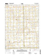 Flanagan SW Illinois Current topographic map, 1:24000 scale, 7.5 X 7.5 Minute, Year 2015 from Illinois Map Store