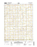 Flanagan South Illinois Current topographic map, 1:24000 scale, 7.5 X 7.5 Minute, Year 2015 from Illinois Map Store