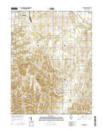 Flat Rock Illinois Current topographic map, 1:24000 scale, 7.5 X 7.5 Minute, Year 2015 from Illinois Map Store