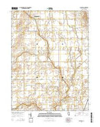 Flatville Illinois Current topographic map, 1:24000 scale, 7.5 X 7.5 Minute, Year 2015 from Illinois Map Store