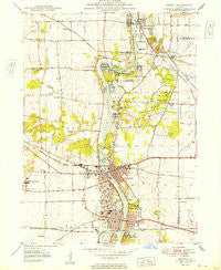 Geneva Illinois Historical topographic map, 1:24000 scale, 7.5 X 7.5 Minute, Year 1949