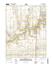 Georgetown Illinois Current topographic map, 1:24000 scale, 7.5 X 7.5 Minute, Year 2015 from Illinois Maps Store