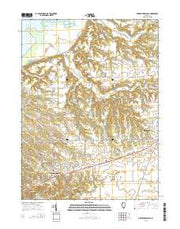 Germantown Hills Illinois Current topographic map, 1:24000 scale, 7.5 X 7.5 Minute, Year 2015 from Illinois Maps Store