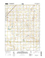Gibson City East Illinois Current topographic map, 1:24000 scale, 7.5 X 7.5 Minute, Year 2015 from Illinois Map Store