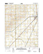 Gibson City West Illinois Current topographic map, 1:24000 scale, 7.5 X 7.5 Minute, Year 2015 from Illinois Map Store