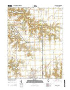 Gillespie North Illinois Current topographic map, 1:24000 scale, 7.5 X 7.5 Minute, Year 2015 from Illinois Map Store