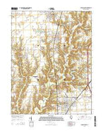 Gillespie South Illinois Current topographic map, 1:24000 scale, 7.5 X 7.5 Minute, Year 2015 from Illinois Map Store
