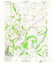 Grayville Illinois Historical topographic map, 1:24000 scale, 7.5 X 7.5 Minute, Year 1959