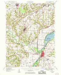 Havana Illinois Historical topographic map, 1:62500 scale, 15 X 15 Minute, Year 1949