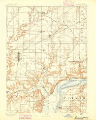 Hennepin Illinois Historical topographic map, 1:62500 scale, 15 X 15 Minute, Year 1893