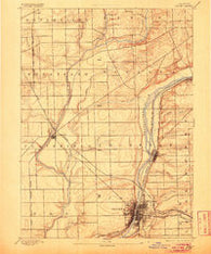 Joliet Illinois Historical topographic map, 1:62500 scale, 15 X 15 Minute, Year 1892