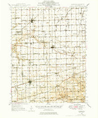Kansas Illinois Historical topographic map, 1:62500 scale, 15 X 15 Minute, Year 1946