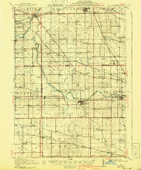 Kirkland Illinois Historical topographic map, 1:62500 scale, 15 X 15 Minute, Year 1918